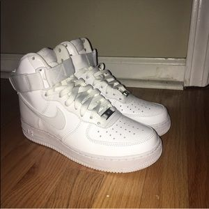 Nike White Air Force Ones High Top US Men's Size 6